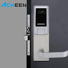 High Security zinc alloy smart Card Reader Door Lock RF hotel lock