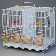 small decorative wire High Quality Steel bird breeding Cage with feeders