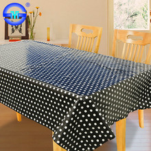 Accept Custom Order fitted black and white polka dot tablecloth plastic flannel backed plastic tablecloths