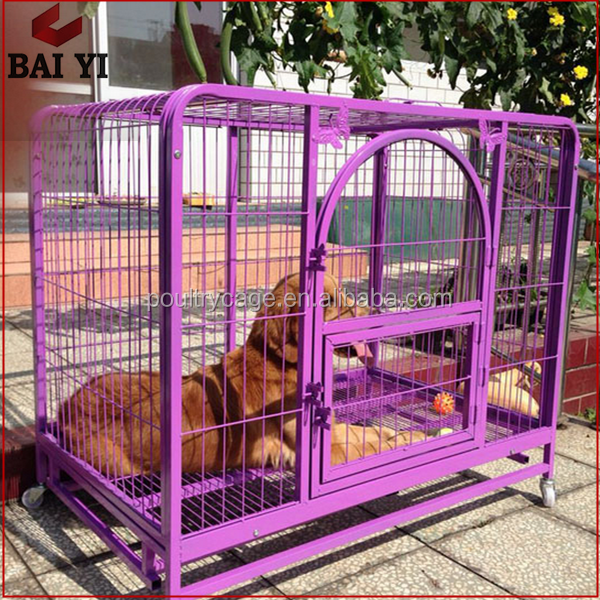 Wholesale Steel Frame/ Expanded Metal Dog Cages With Wheels