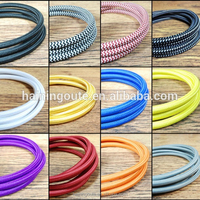 Decorative Lighting Fabric Cable Wire UL,VDE Braided Electrical Wire