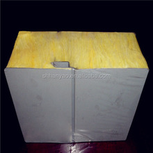 fire rated insulation metal steel glass wool sandwich panel with cost m2 price