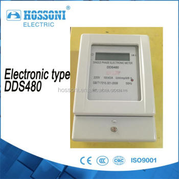 HOSSONI ,Single phase,DDS480 electronic meter(KWH meter,energy meter) High quality