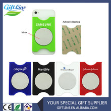Best Price Customized Silicone Smart Cell Phone Wallet with Mirror