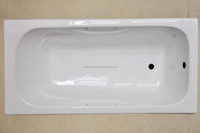 rectangular drop in cast iron bathtub/solid surface porcelain bath tub
