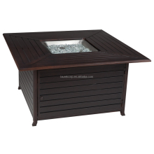 Outdoor fire pit-coffee table with cover