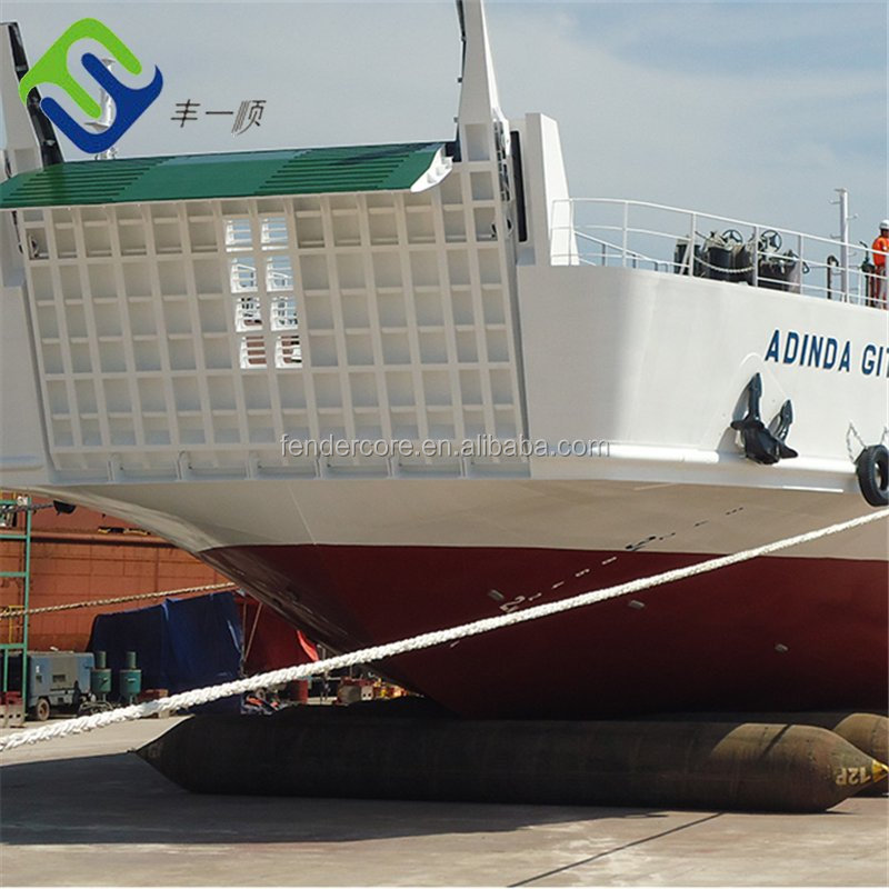 Big bulk cargo ship moving or upgrading marine inflatable airbags factory sale