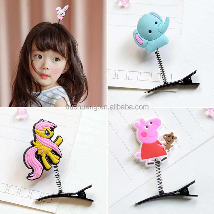 Top fashion girl hair clips sweet handmade hairpins for kids lovely hairwear Tall Animal Tiaras