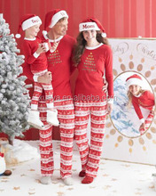 New design red santa mommy and Daddy kids family christmas pajamas