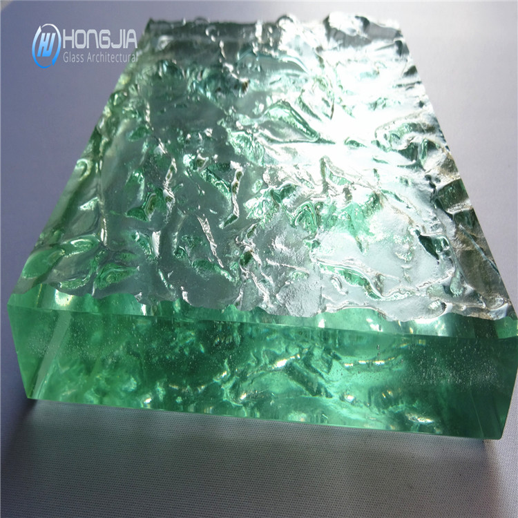 50mm customized design crystal hot melt tempered glass for countertop