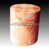BURMA TEAK WOOD URN IN ROUNDER SHAPE U764