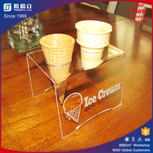 China supplier customized wedding party acrylic ice cream display rack / ice cream cake display