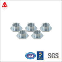 Carbon steel hex base pallet nut with zinc plating