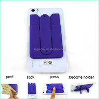 Cell Phone Pocket/Silicon Card Holder/ Mobile Phone Case Card Holder Wallet
