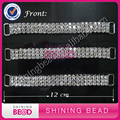 3 rows sparkly rhinestone back bikini connectors crystal clear bikini connector chain