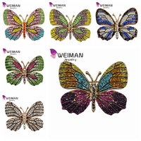 Fashion jewelry animal garment Crystal rhinestone butterfly brooch