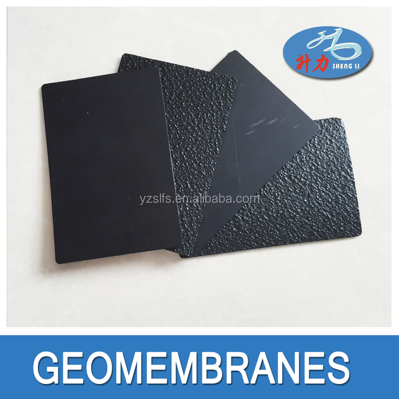 Textured HDPE geomembrane liner for easy welding