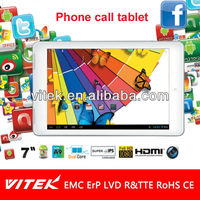 New Dual Core Phone Calling camera 7 inch Tablet pc mtk8377 android 4.2 gps 3G 2g wif