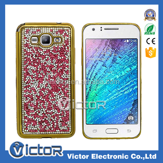 for samsung galaxy j3 glitter crystal cell phone case, hot sale bling bling diamond case for galaxy j3