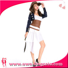 Sexy women pirate costume model blouse for uniform