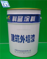 18L custom printed tin bucket/container for paint/powder/coating