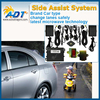 Blind Spot Monitor Safety Warning Sensor Detection Kit; Light & Sound Car Alarm