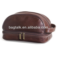 High Quality PU leather Travel Custom Made Man Toiletry Bag