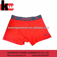OEM Solid Color Cotton/elastane Mens Underwear Boxers With Soft Elastic Band