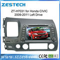 ZESTECH touch screen gps oem in dash Car DVD gps for Honda Civicc left hand driving 2006 2007 2008 2009 2010 2011