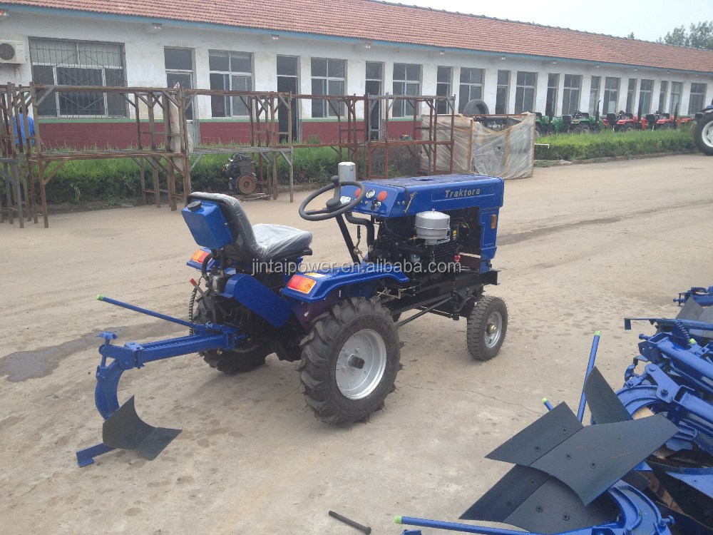 china factory supply 15HP mini farm tractor with plough and trailer