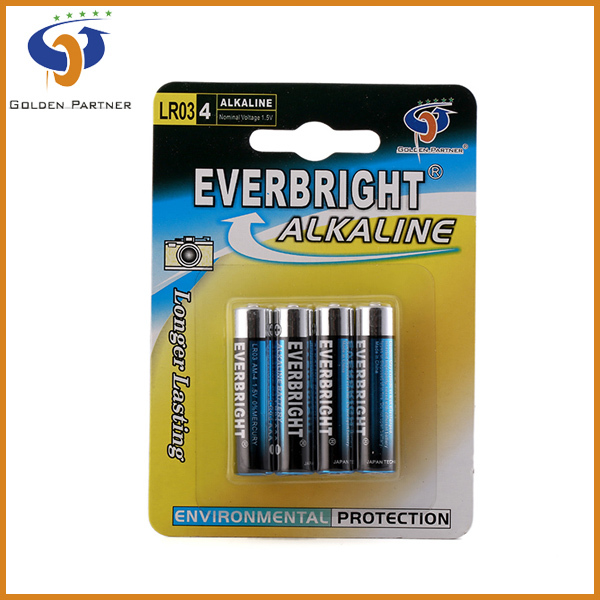 Short delivery period 1.5v am-4 aaa batteries for car