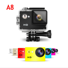 1080p Full HD A8 Sports Camera 2inch 4K 30FPS Ultra HD DV Mini Cam 30M Waterproof Action camera A8 photo camera