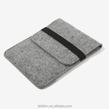 Customized grey wool felt laptop BAG , easy carrying apid bag