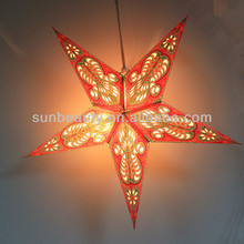 Lighted Hanging Paper Lantern for Christmas Decoration