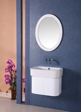 60cm wall cabinet for bathroom with oval frame bathroom mirror