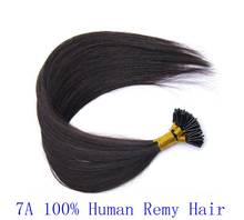 7A quality 100s/lot 0.5g/s 0.8g/s 1g/s Brazilian remy Keratin pre-bonded stick tip i tip human hair extension