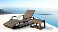 Classic simple plastic PE rattan beach lounge chairs XC-WD04