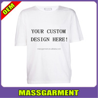 custom White cotton basic create your own t shirt