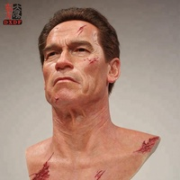 Promotion Custom Famous Human Silicone Bust Sculpture