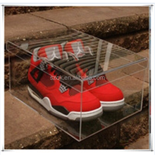 clear cheap acrylic sneaker box for nike running shoes