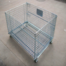 Collapsible Cage Pallet, Foldable Stillage, Warehouse Steel Stillage