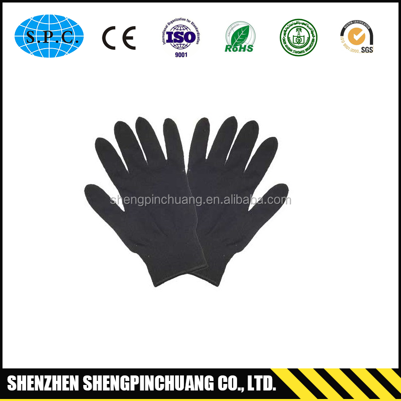 SPC-F234 Custom cheap embroidered cotton lycra gloves