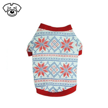 Christmas snowflake dog clothes custom small pet clothing cat dog show shirt