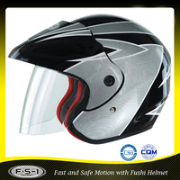 Good quality German dot open face type motorcycle helmet