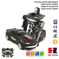 Transformable remote control fighting mobile robot toy