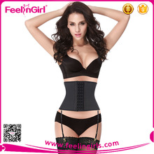 Women Sexy Latex Waist Trianer Corset With Garter Belt
