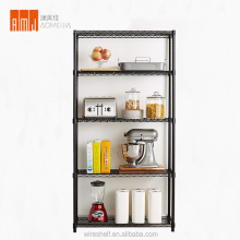 Factory direct black powder coated light duty home display kitchen restaurant wire <strong>shelves</strong>