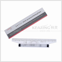 Long 30CM ENGEERING parallel rolling plastic ruler/ engeering parallel rolling plastic ruler with blister card package #MPR30