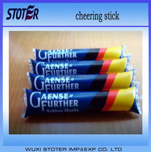 World cup Clapper Cheering Stick , different color noisemaker sticks ,customized cheering sticks