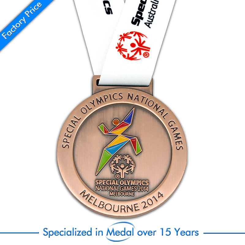 Supply custom special olympics national games souvenir medal